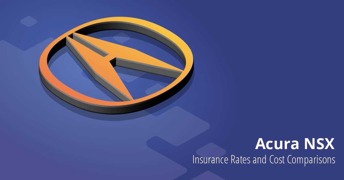 Acura NSX insurance illustration