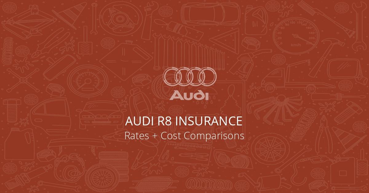 Audi R8 insurance illustration