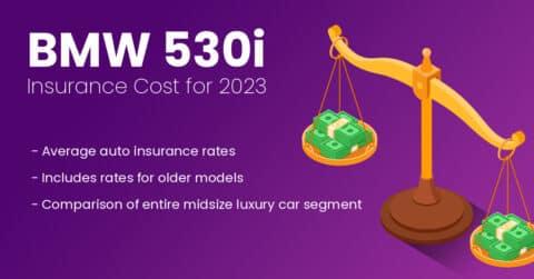 BMW 530I insurance illustration