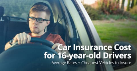 Car insurance cost for 16-year-old drivers