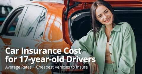 Car insurance cost for 17-year-old drivers