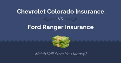 Chevrolet Colorado vs Ford Ranger insurance comparison illustration