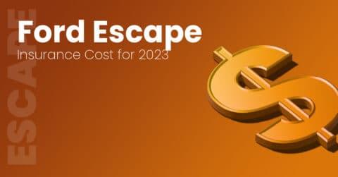 Ford Escape insurance illustration