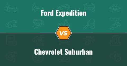 Ford Expedition vs Chevrolet Suburban insurance comparison illustration