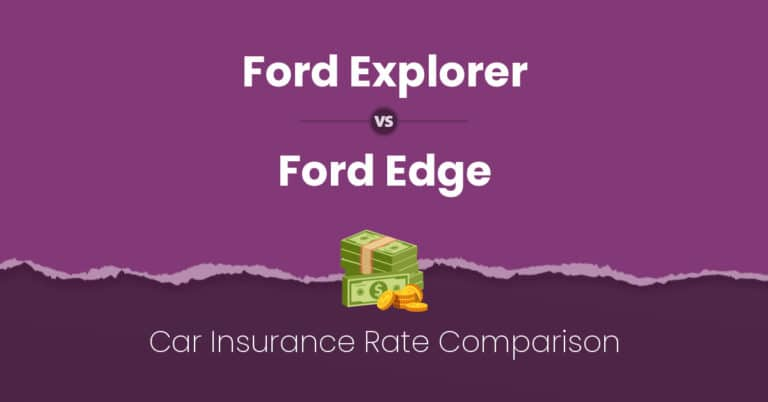 Ford Explorer vs Ford Edge insurance comparison illustration