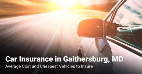 Gaithersburg, MD, car insurance cost and cheapest vehicles to insure