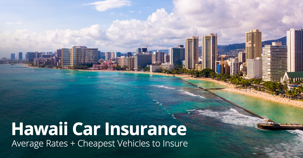 Hawaii car insurance cost feature image