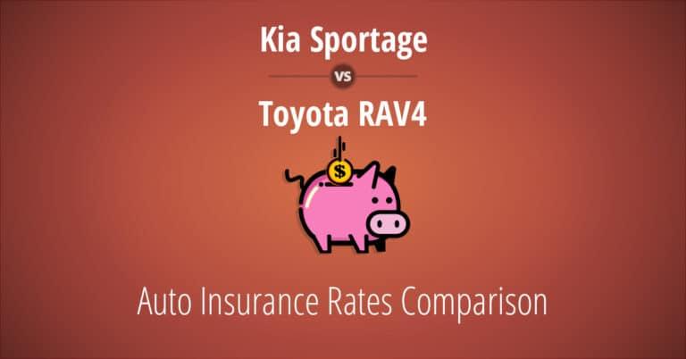 Kia Sportage vs Toyota RAV4 insurance comparison illustration