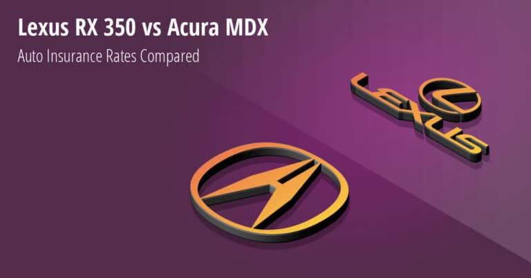 Lexus RX 350 vs Acura MDX insurance comparison illustration