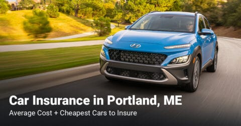 Portland, ME, car insurance cost and cheapest vehicles to insure