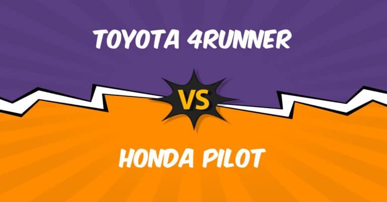 Toyota 4Runner vs Honda Pilot insurance comparison illustration