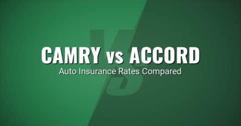 Toyota Camry vs Honda Accord insurance comparison illustration