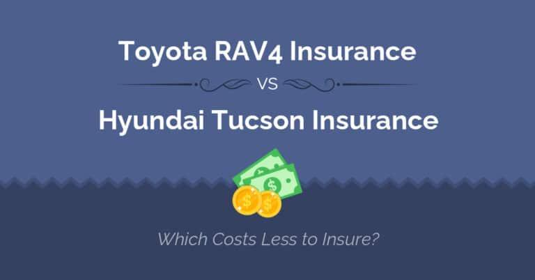 Toyota RAV4 vs Hyundai Tucson insurance comparison illustration