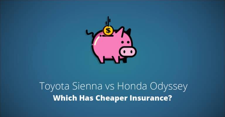 Toyota Sienna vs Honda Odyssey insurance comparison illustration