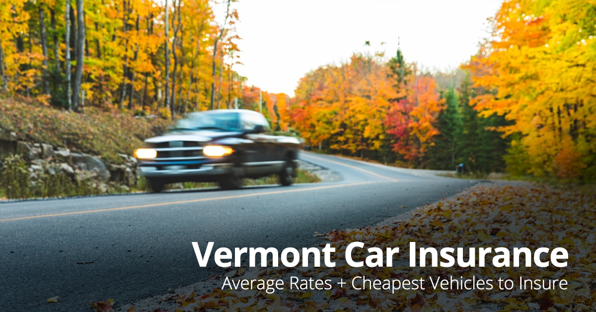 Vermont car insurance cost